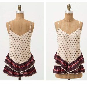 Anthropologie Maeve Buteh Borders Tiered Tank